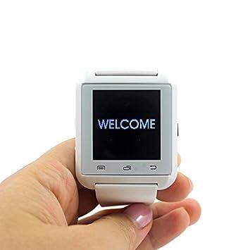Nueva U8 reloj inteligente de alta calidad Bluetooth muñeca reloj teléfono Mate temporizador para Android (blanco): Amazon.es: Electrónica