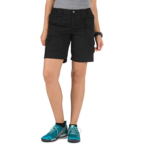 5.11 Women's Taclite Tactical Shorts, Style 63071, Black, 12