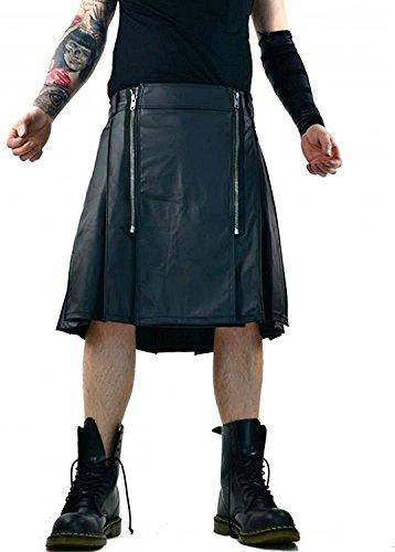 a68c018fe7f Lip Service Steampunk Vegi Faux Leather Gothic Scottish Kilt Skirt (28)