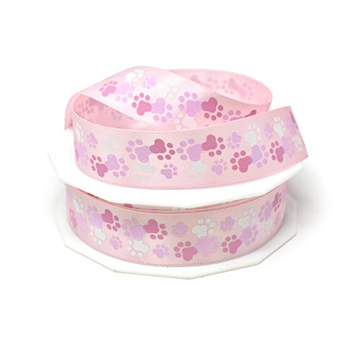 (Homeford Paws Galore Precious Pets Satin Ribbon, 7/8-Inch, 20-Yard (Pink))