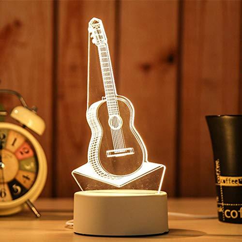 comfi1 3D USB Acrylic Night Light LED Table Desk Bedroom Decor Gift Warm White Lamp