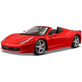 Superb Bburago 26017R Ferrari 458 Spider Red 1/24 Diecast Model Car