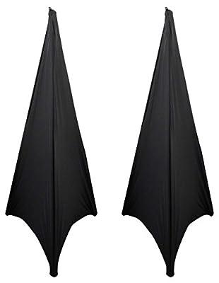 (2) Rockville RSC7B Black Tripod PA Speaker Stand Scrims Cloth 360 Degree Cover from Rockville