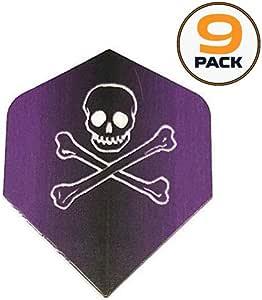 Unicorn Maestro Purple Jolly Roger Ghost Skull Crossbones Dart Flights 3 Sets