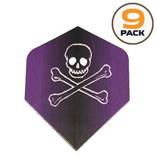 icorn Maestro Purple Jolly Roger Ghost Skull Crossbones 100 Micron Extra Strong Dart Flights ()
