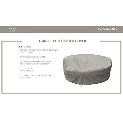 TK Classics Oasis/Fairmont/Newport Sun Bed Protective Cover in Gray (Bed Set Fairmont)