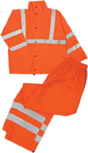 (ML Kishigo RW111 Economy High-Viz Full Rain Suit, Fits Large and Extra Large, Orange )