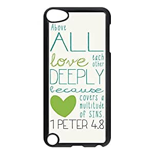Designed Hard Case for iPod Touch 5 Plastic Protective Case Cover with Bible Verse -Black20701
