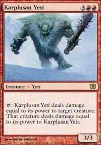 Magic: the Gathering - Karplusan Yeti - Ninth Edition
