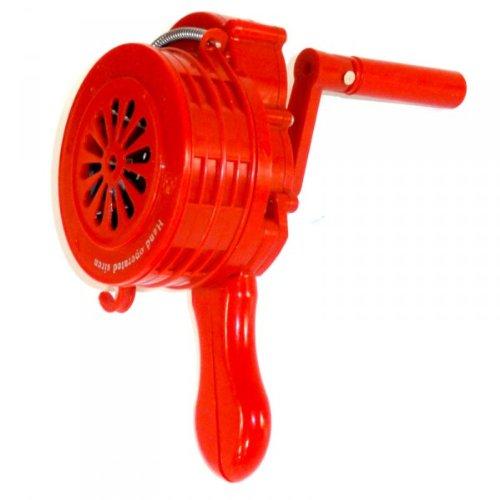Sirene manuell Handsirene - 110 dB - ABS Kunststoff - Alarm THW Feuerwehr ROT Dyntronic GmbH