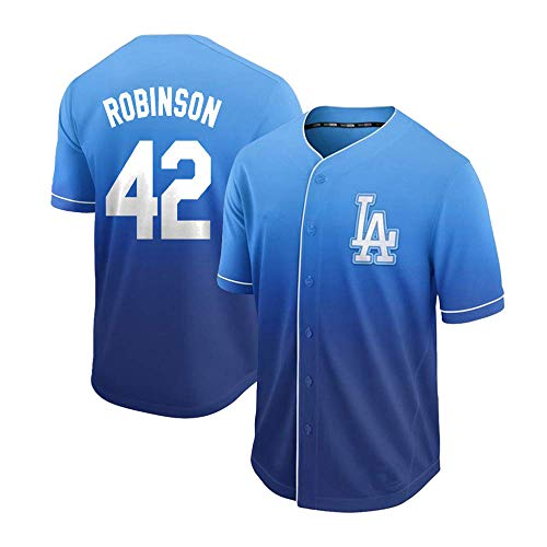 (DukeLy Mens_Jackie_Robinson_Fade_Cool_Base_Player_Jersey)