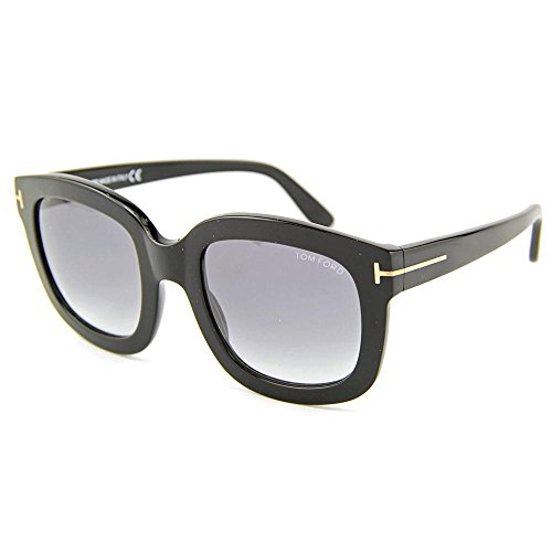 Tom Ford 0279S 01B Black Christophe Square Sunglasses Lens Category - Sunglasses Square Tom Ford