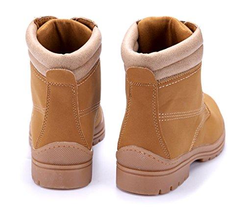 a3ae07f56afc ... Schuhe Stiefeletten 3 Blockabsatz Boots Damen cm Schuhtempel24 Camel  Stiefel qgPvAxw ...