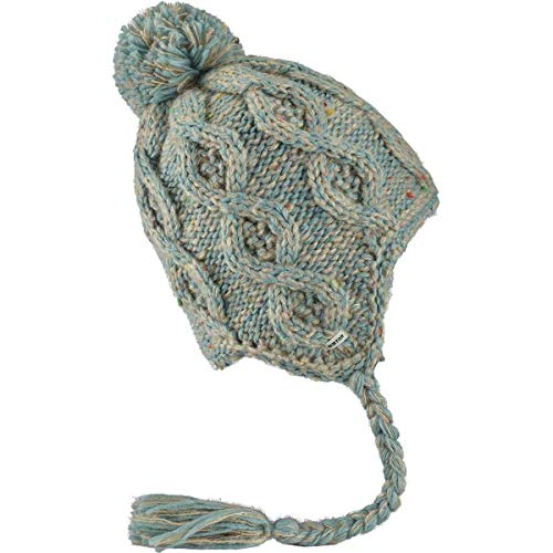 Burton Women's Chloe Ear Flap Beanie, Canvas/Abyss Marble, One Size (Burton Womens Hat)