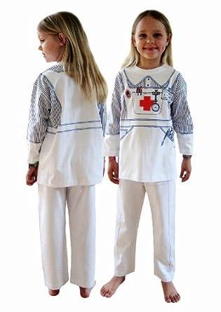 Pijama de Enfermera y Ropa Casera Divertida (7-8 Años): Amazon.es ...