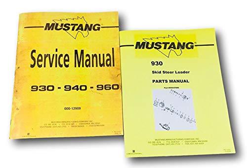 - Mustang 930 Skidsteer Loader Service Parts Manual Catalog Shop Book Set Ovhl