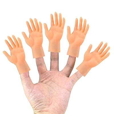 BESPORTBLE 2pcs Simulation Finger Palm Finger Puppets Hand Shape Finger Puppets Mini Hand Model Puppet: Home & Kitchen