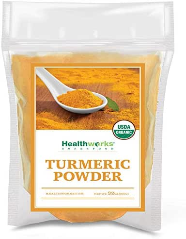 Healthworks Turmeric Powder (32 Ounces / 2 Pounds) | Ground Raw Organic | Curcumin & Antioxidants | Keto, Paleo, Vegan, Non-GMO | Anti-Inflammatory