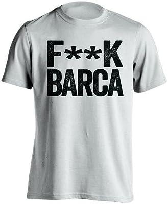 Fuck Barca – Real Madrid CF Ventilador camiseta – diseño de texto ...