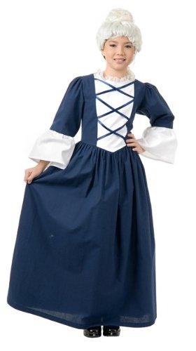 Charades Child's Martha Washington Costume Historical, Blue/White, X-Large from Charades