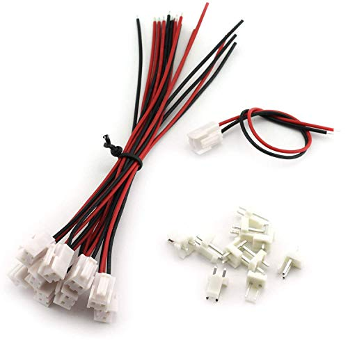 Magic&Shell 10 Sets 3.96mm VH Plug Cable Single Head 2Pin Terminal Wire Medical Devices Wire LED Display Mainboard Electric Wire 150mm + Straight 2P Male Header Connector