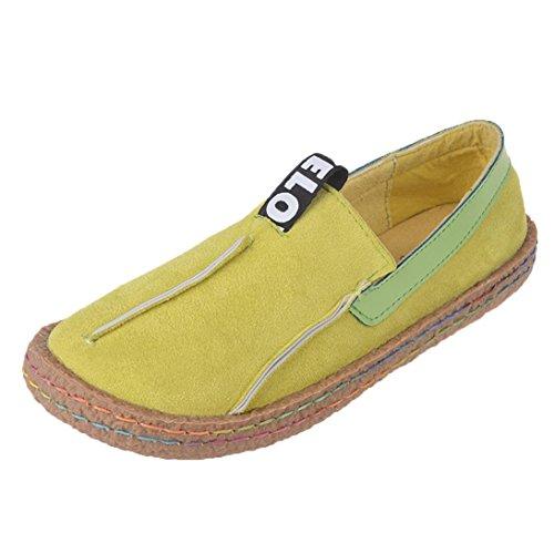 WINWINTOM Moda Zapatos de Los Guisantes de Las Señoras Zapatos Perezosos Zapatos Ocasionales Zapatos Para Mujer Zapatos Redondos del Verano del Dedo del Pie de La Sandalia (41, Verde)