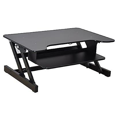 Ergonomia Ergonomic Height Adjustable Standing Desk Sit to Stand Desk Desk Riser Black and White