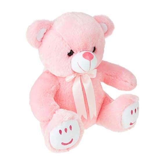 Amazon Brand- Jam & Honey Pink Teddy 33 cm