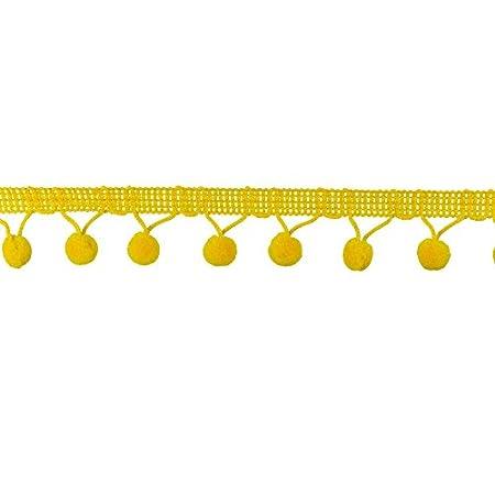Orange Ball Fringe 1-1//8 Wide 6 Yards