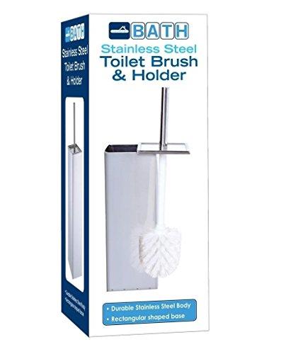 Euro-Home EW1991 Stainless Steel Square Toilet Brush Holder