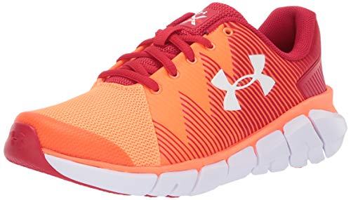 (Under Armour Boys' Grade School X Level Scramjet 2 Sneaker, Red (600)/Orange Glitch, 7 M US Big Kid)