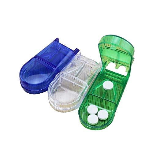 Xuanhemen 3pcs Set Rectangle Shape Tablets/Pills/Vitamin/Capsule Cutter Splitter with Stainless Steel Blade
