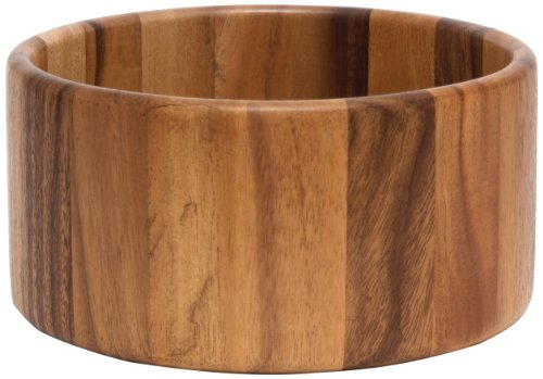 (Lipper International 1145 Acacia Straight-Side Serving Bowl for Fruits or Salads, Large, 10