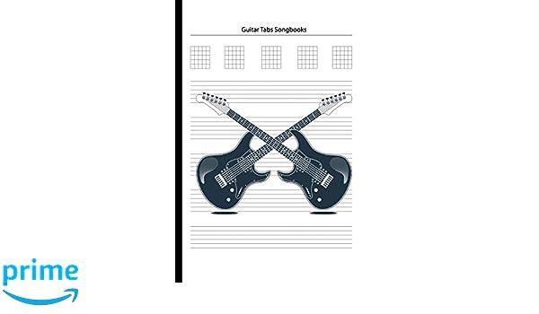 Guitar Tabs Songbooks: Blank Guitar Tabs paper, Standard Staff ...