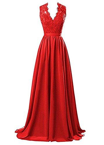 Bainjinbai BallKleider Abendkleider Line Red Applikation Festkleider A Brautjungfernkleider Lang vwn6vxH
