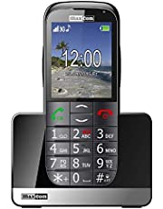 MaxCom Mobiele telefoon senioren mobiele telefoon met noodoproepknop laadstation Bluetooth 2, inch display 2MP camera FM radio en zaklamp zwart mm721 3G