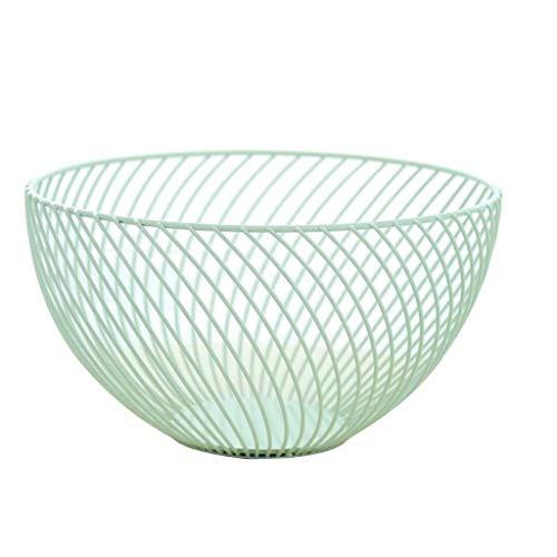 (Home Kitchen Vegetable Fruit Bread Basket Holder Food Storage Bowl Rack (Color - Green))