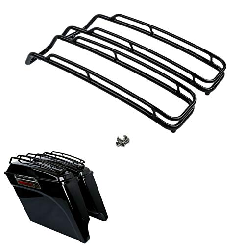 (TCT-MT Saddlebag Lid Trim Top Rail Rack Guard Support Fit For Harley Touring Road King FLT FLHT FLHTCU FLHRC Street Electra Glide Ultra-Classic 1994-2013)