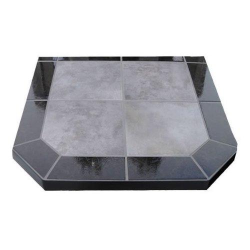 Hearth Board Hearth Pad (Chimney 49210 Night Shadows Tile Double Cut Stove Board- 40 in. X 40 in.)