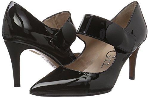 Tacón Punta Cerrada Para P3123 Gil Zapatos Paco Mujer black De Con Negro cnIxFWa