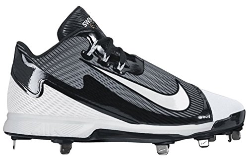 Nike Air Swingman Legend Black/White Metal Baseball Cleats – DiZiSports Store