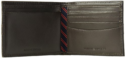 Tommy Hilfiger Men's RFID Blocking 100% Leather Ranger Passcase Wallet