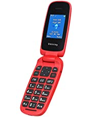 "Ukuu 1.8"" Teléfono móvil Unlock - Feature Phone(2G,Dual SIM,cámara 0.8 MP,batería 800mAh,4MB de RAM),Rojo (F201)"