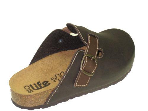 Bio-Life 0005.562 Herrenschuhe Slipper Sandaletten Clogs Sabots Schuhe Braun