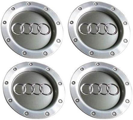 Luck16888 - 4 tapacubos Originales OEM para Audi A2, A3, A4, A6, S6, A8, TTRS6: Amazon.es: Jardín