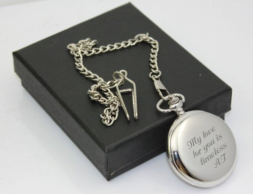 Pocket Engraved (Personalized Silver Pocket Watch Engraved Free)