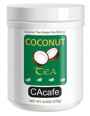 CAcafe's Coconut Tea in Mini Jar #48533 (Sweetened), 9.5oz (270g) (Creamer Mini Green)