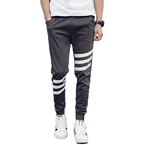 Men's Slim Fit Sweatpants Skinny Street Wear Joggers (US S/Tag XL, Gray) Life Casual Superskinny Homewear Loose Off time Running Street Styles Thigh Trousers Washable (Street Tags)