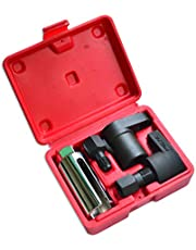 ITEQ 5 Pcs Automotive Oxygen Sensor Socket Wrench Removal Tool and Thread Chaser Set
