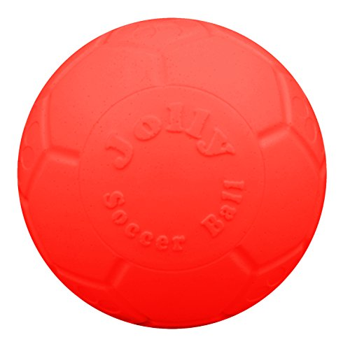 "Jolly Pets 8"" Soccer Ball, Orange, Large/X-Large"